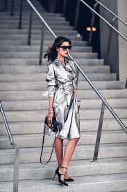holiday dressing idea metallic trench coat my style
