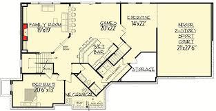 Big Floor Plans Big Daddy Sport Court House Plan 73356hs Architectural Designs