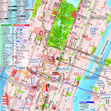Map Ny Terramaps Nyc Manhattan Street And Subway Map Waterproof Ar