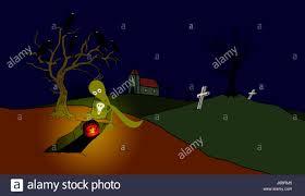 scary halloween cartoons cartoon grave stock photos u0026 cartoon grave stock images alamy