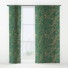 Teal Patterned Curtains Shop Gold Patterned Curtains On Wanelo