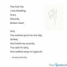 quotes heart bleeding sugarush quotes yourquote