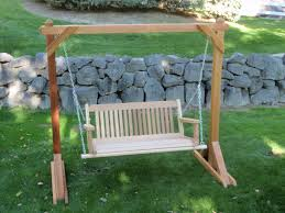 Patio Swing Frame by Furniture Fancy Brown Wooden Porch Swings With Iron Holder And A