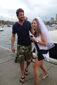 in pictures hollywood star gerard butler delights bride to be as