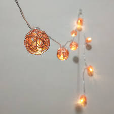 Decor Lights Home Decor Rose Gold Iron Wire Ball String Lights Fairy Led Home Decor Light