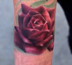 art junkies tattoo studio tattoos flower realistic color