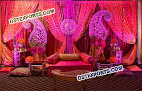 Stage Decoration Ideas Indian Wedding Mehndi Stages Decoration