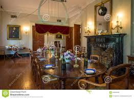 interior of oak alley plantation louisiana editorial stock image