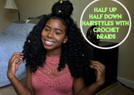 how to half up half down with crochet braids youtube