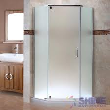 semi frameless neo angle shower door frosted glass shine bathrooms