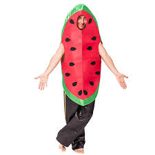 watermelon emoji amazon com eraspooky men u0027s halloween watermelon costumes as