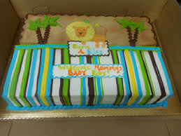 calumet bakery lion king themed baby shower cake with stripes