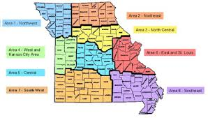 Missouri State Map Missouri Good Sam Club Chapter Information