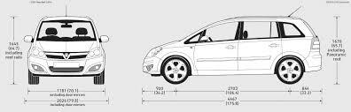 vauxhall zafira 2004 2009 vauxhall zafira minivan blueprints free outlines