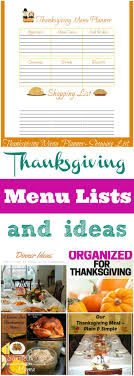 best 25 thanksgiving menu list ideas on thanksgiving