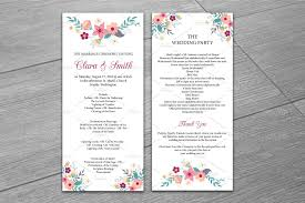 wedding day program wedding program template invitation templates creative market