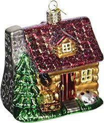 world school house glass blown ornament