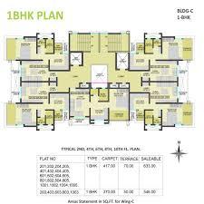 1bhk floor plan floor plan of shubhankar durvaa devlopment