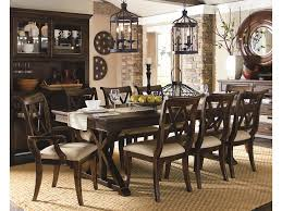 legacy classic thatcher 9 piece dining set with x back chairs