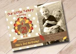 our little turkey birthday invitation fall first birthday autumn