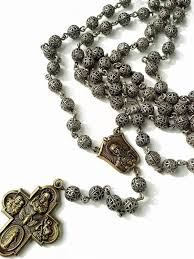 catholic rosary necklace mens rosary necklace silver beaded rosary necklace mens