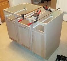 installing kitchen island kitchen alluring diy kitchen island from cabinets front diy