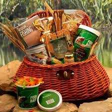 sports gift baskets fisherman s gift basket sports and outdoor arttowngifts