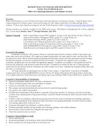 Caregiver Job Description Resume by Residential Counselor Job Description Resume Free Resume Example