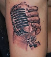 hand and microphone tattoo pictures