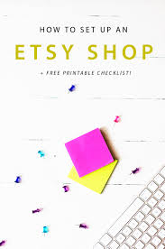 a step by step guide to setting up an etsy shop pinkpot studio