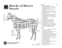 breeds of horses puzzle osu extension catalog oregon state