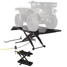 Craftsman Atv Jack Parts by Amazon Com Black Widow Atv Lift Table With 4 Wheeler Center Jack