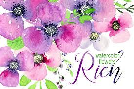 Flowers By Violet - violet u0026 purple watercolor flowers by watercolorflowers