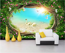 online get cheap fairies forest 3d wall mural aliexpress com custom photo mural 3d wallpaper fairy tale forest rattan flower decoration painting 3d wall murals wallpaper for living room