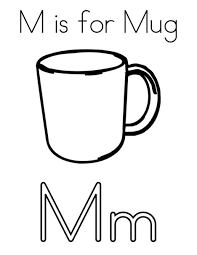 printable new m is for mug coloring page for preschoolers 2014