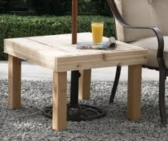 Diy Simple End Table by Cedar Patio Tables Foter