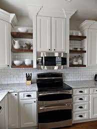 long kitchen cabinets top 71 special open upper kitchen cabinets shelf design ideas rack