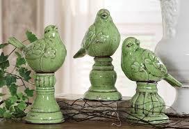 one kings lane creative co op terra cotta bird finials asst