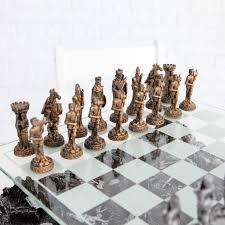 Interesting Chess Sets 3d Knight Pewter Chess Set Walmart Com