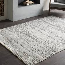 Area Rugs Modern Williston Forge Distressed Modern Abstract Gray Area