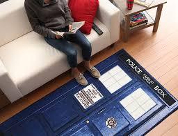 Doctor Who TARDIS Rugs ThinkGeek - Dr who bedroom ideas