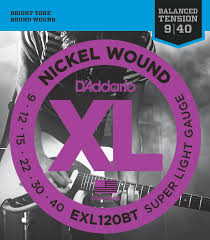 light electric guitar strings d addario exl120bt nickel wound 9 40 super light electric guitar