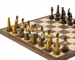 ancient chess the ancient egypt hand painted themed chess set by italfama