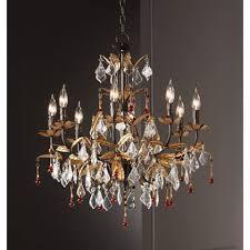 Dressing Room Chandeliers Kathy Ireland Venezia Gold 8 Light 26