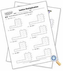 lattice multiplication worksheetworks com