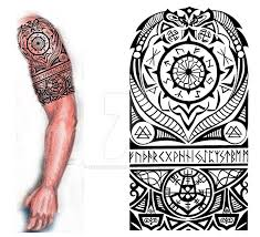 viking nordic tattoo by thehoundofulster on deviantart