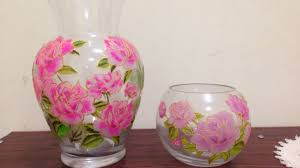 how to create a pretty floral decorated vase diy home tutorial