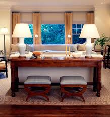 console table behind sofa great uses for that awkward space behind the couch home again