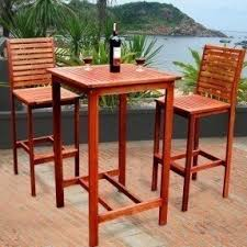 Wooden Bar Table Outdoor Bar Height Table Foter