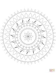 download simple flower mandala coloring pages or print within